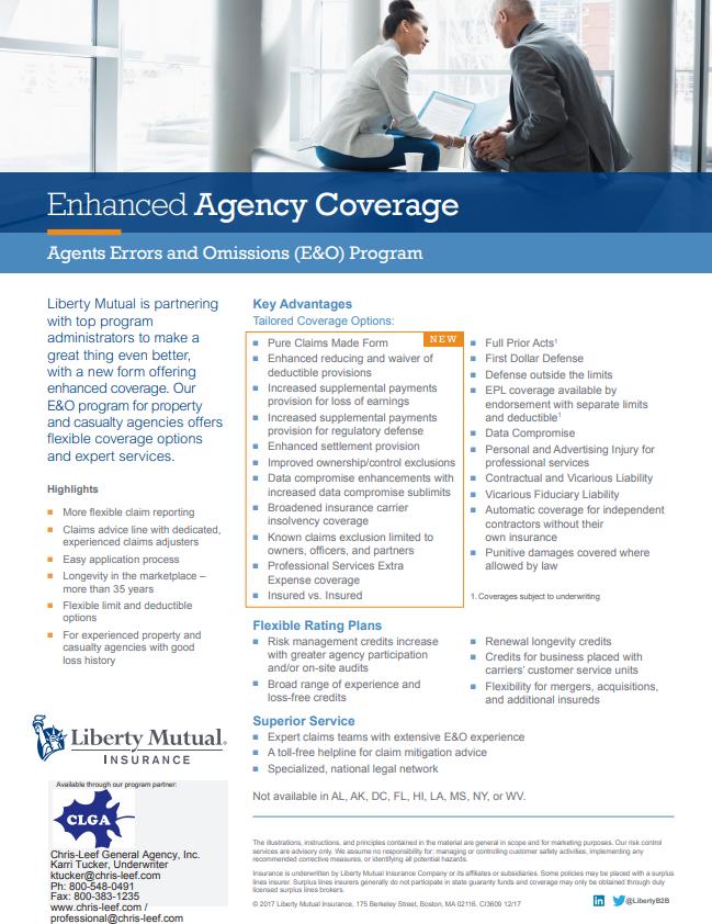 enhanced agency coverage