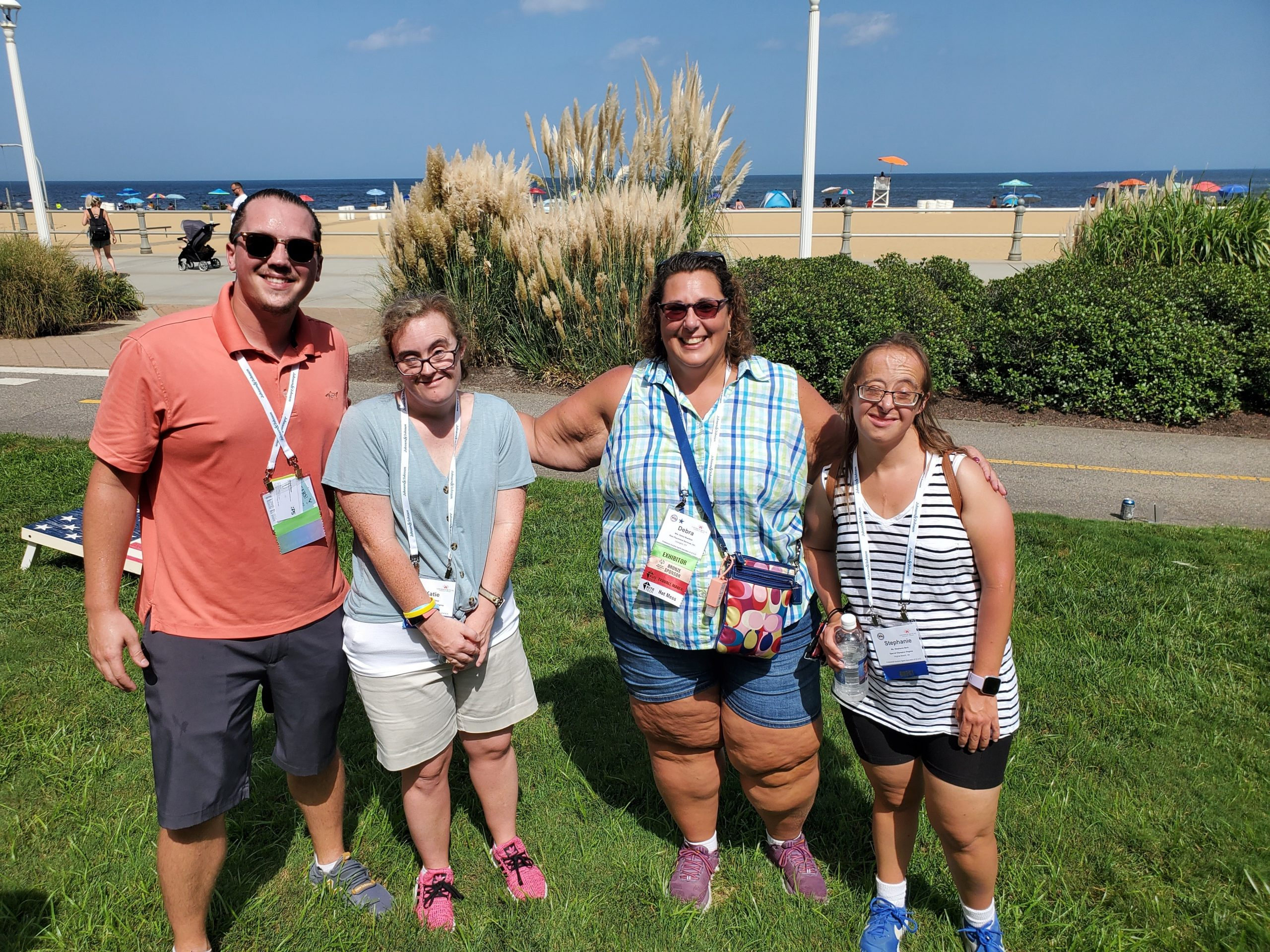 Mitchell Blaser, Katie Blind, Debra Buettner, and Stephanie Berk enjoyed the 2021 Cornhole Tournament.