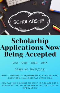 Scholarhip Applications Now Being Accepted